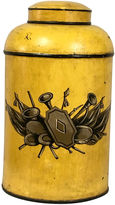 One Kings Lane Vintage Antique French Painted Tole Canister