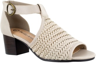Bella Vita Block Heel Woven Sandals - Ripley II