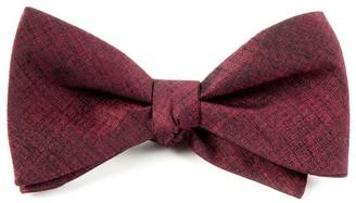 Tie Bar Debonair Solid Deep Burgundy Bow Tie