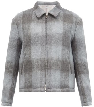 Thom Browne Checked Mohair-blend Jacket - Grey
