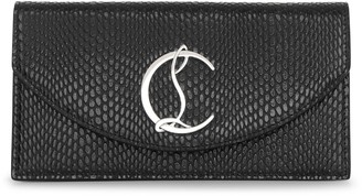Christian Louboutin Loubi54 printed leather clutch