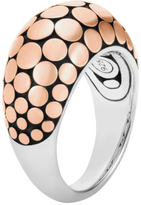 John Hardy Dot 12MM Dome Ring in Silver and 18K Rose Gold