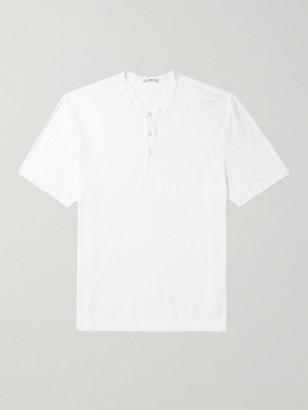 James Perse Cotton And Linen-Blend Henley T-Shirt