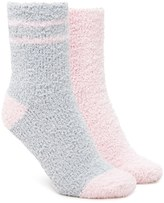 Forever 21 FOREVER 21+ Striped Fuzzy Sock Set - 2 Pack