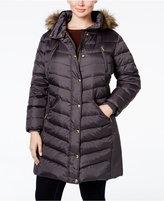 MICHAEL Michael Kors Size Faux-Fur-Trim Down Puffer Coat