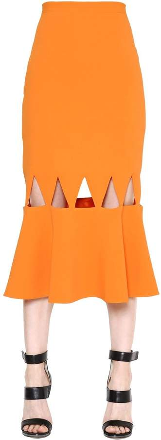 David Koma Triangle Cutout High Waist Cady Skirt
