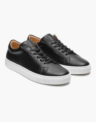 Madewell GREATS Royale Leather Low-Top Sneakers in Black