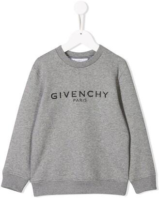 Givenchy Kids contrast logo sweatshirt