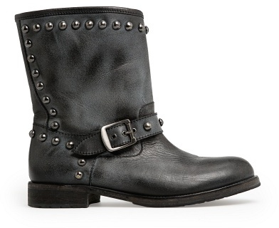 MANGO Outlet Rounded Studs Leather Boots