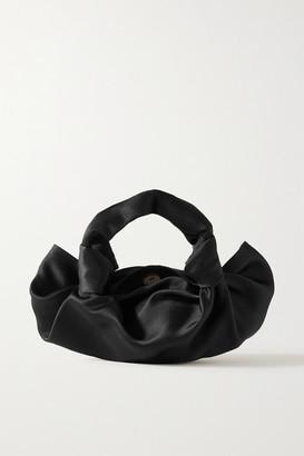 The Row Ascot Satin Tote - Black