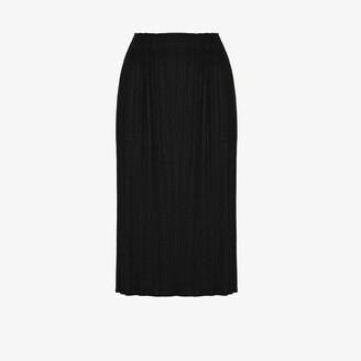 Pleats Please Issey Miyake Monthly Colours July plisse midi skirt