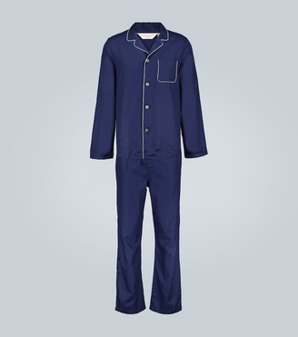 Derek Rose Lombard 6 cotton pajama set