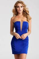 Jovani JVN55144 Deep V-neck Sheath Dress