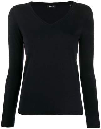 Aspesi fine knit v-neck jumper