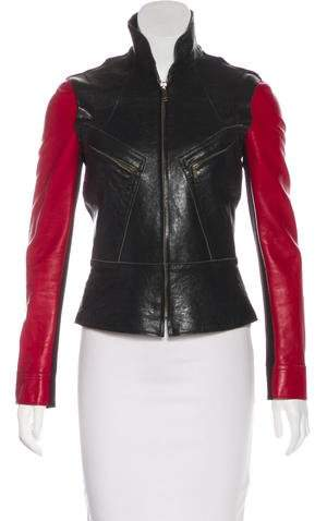 Derek Lam Two-Tone Leather Jacket