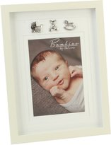 "Bambino CG334 Baby Photo Frame, Silver Charms, 5"" x 7"""