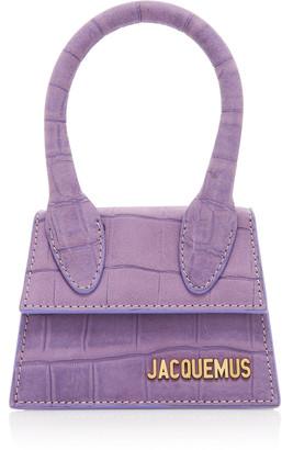 Jacquemus Le Chiquito Croc-Effect Leather Top Handle Bag