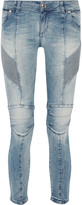 Pierre Balmain Moto-style low-rise skinny jeans
