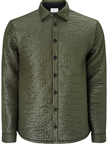 Libertine-libertine Bravo Quilted Jacket, Green Grey Melange