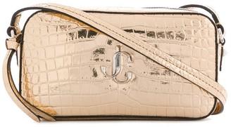 Jimmy Choo Hale crocodile-effect crossbody bag