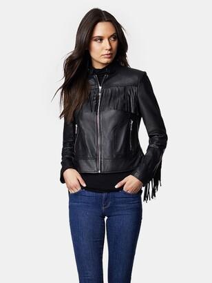 Dawn Levy Cheri Classic Leather Fringe Jacket