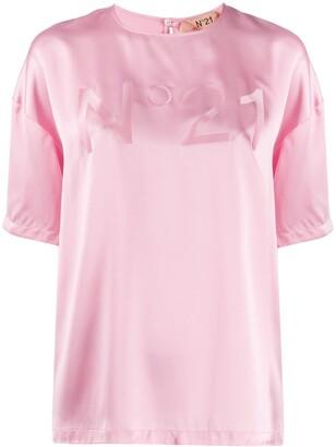 No.21 tonal logo glossy-effect T-shirt