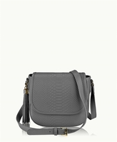 GiGi New York Kelly Saddle Bag Embossed Python