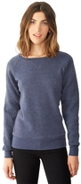 Alternative Light French Terry Quilted Crew Neck Sweatshirt