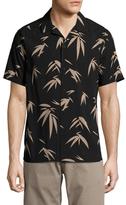 Toscano Printed Spread Collar Sportshirt