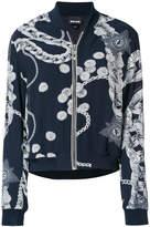 Just Cavalli chain print bomber jacket