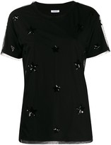 P.A.R.O.S.H. tulle layer sequin-embellished T-shirt