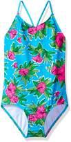 Kanu Surf Big Girls' Krista Floral 1-Pc Swimsuit