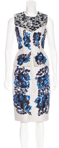 Erdem Lace-Accented Embroidered Dress