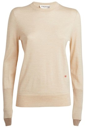 Victoria Beckham Wool Double-Cuff Sweater
