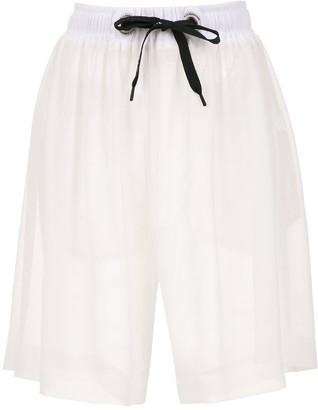 À La Garçonne chiffon bermuda shorts
