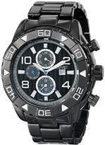 August Steiner Men's Performance Quartz Watch with Black Dial and Bracelet and Multifunction Subdials AS8130BK