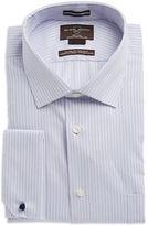 Black Brown 1826 Striped Cotton Dress Shirt