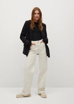 MANGO Ribbed fine-knit sweater black - XS - Women