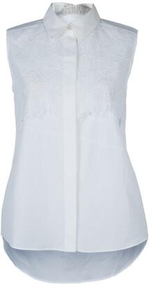 Peter Pilotto White Lace Detail Sleeveless Eero Blouse S