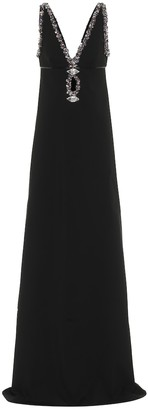 Gucci Crystal-embellished crepe gown