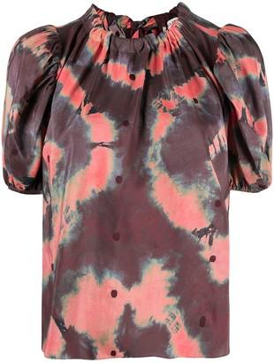 Ulla Johnson Tie-Dye Silk Blouse