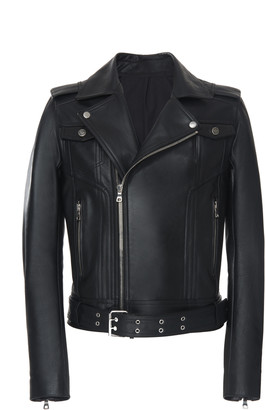Balmain Fringe Leather Motorcycle Jacket