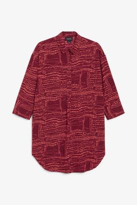 Monki Classic wide shirt dress