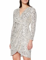 Thumbnail for your product : Gina Bacconi Women's Nidia Sequin Wrap Dress Cocktail