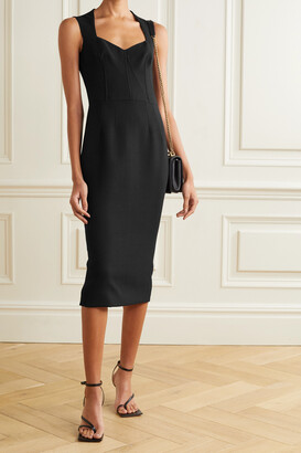 Dolce & Gabbana - Wool-blend Crepe Midi Dress - Black