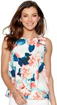 M&Co Floral print satin shell top