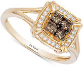 LeVian Le Vian Chocolatier Diamond Square Halo Ring (1/4 ct. t.w.) in 14k Gold