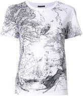 Alexander McQueen woodland print T-shirt