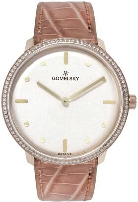 Gomelsky By Shinola Women's The Lois Diamond Genuine Alligator Strap Watch, 36mm - 0.39ctw