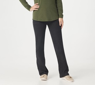 Denim & Co. Regular Pull-On Bootcut Pants with Porkchop Pockets